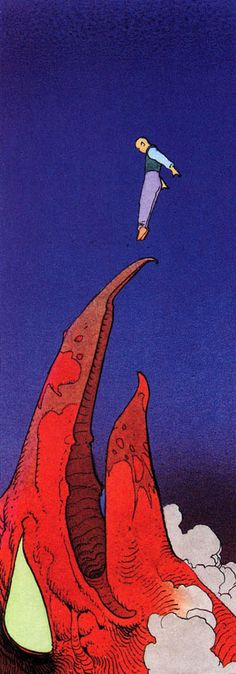Atan - The Goddess (1986) by Moebius | Jean Giraud