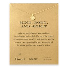 mind body and spirit om symbol necklace, gold dipped - Dogeared - OBSESSED!