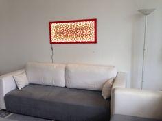 Wandbild Wanddeko mit modernem geometrischem Muster mit LED Leinwand Licht Leuchte von YubiDe auf Etsy https://www.etsy.com/de/listing/291050833/wandbild-wanddeko-mit-modernem