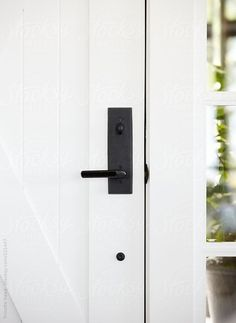 Image result for farmhouse style front door hardware, satin nickel