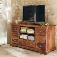vaisselier en bois de sheesham massif l luberon. Black Bedroom Furniture Sets. Home Design Ideas