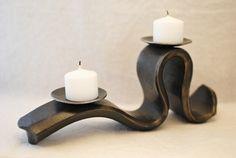 Small candelabra, forged mild steel. © Phoenix Handcraft 2012