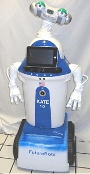 Kate the chatty humanoid robot wants to keep kids company.