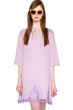 Pixie Market Lilac Crochet Lace Dress, $44, available at Pixie Market.