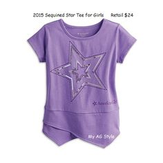 American Girl Doll Sequined Star tee for girls
