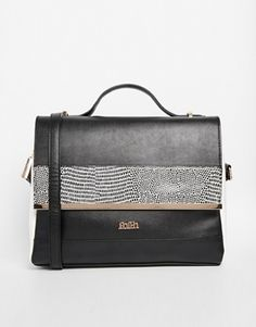 Faith Contrast Trim Satchel