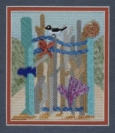 BB Needlepoint Designs - BB GG 4 -Seaside Garden Gate Stitch Guide available