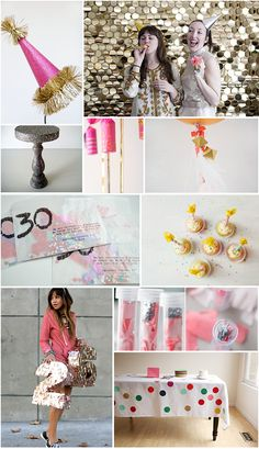 10 DIY BIRTHDAY PARTY DECORATIONS!  Pretty in pink birthday party. Pink and gold is perfect