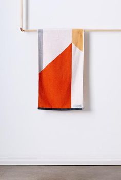 Turkish cotton for superior softness & absorbency. Designer Hand Towel with modern, geometric design. What's Trending In Fashion, Homewares Online, Geometric Designs, Hand Towels, Beach Towel, Pure Products, Orange, Pattern, Spice