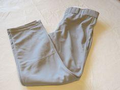 Holloway Athletic L Adult Baseball softball Pant pants 1 pair grey NOS NWOT #HollowayAthletic