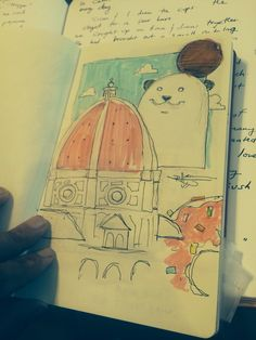 Duomo from small pink sketchbook