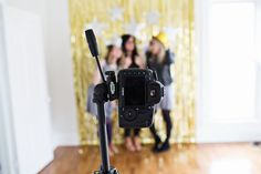 making your own photo booth-6th grade graduation party