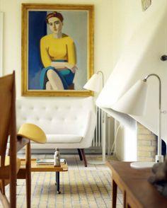 Finn Juhl's home outside Copenhagen: The living room
