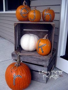 {monogrammed pumpkins} - Simply Kierste