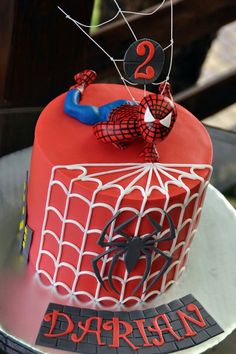 Spiderman Birthday Cake ♡♡