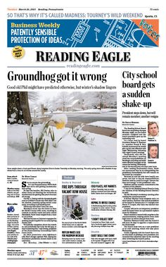 Today's front page. March 26, 2013.