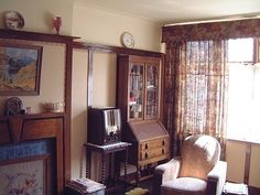 Living room, reconstruction for Channel 4 series 'The 1940's House'.