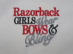 Razorback Girls Wear Bows and Bling Girl's by isabellainspired, $14.49