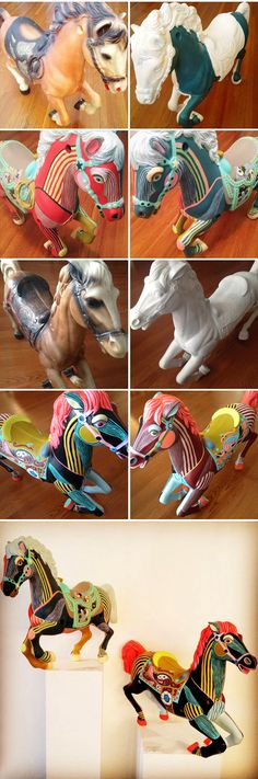 "jennifer davis - painted carousel ponies, from ""joyride"""