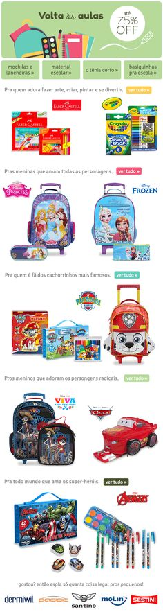 E-mail com temática de volta às aulas School Lunch Box, Frozen Characters, Back 2 School, Girls, Backpacks, Hilarious