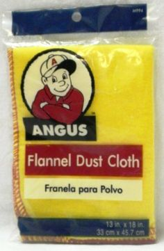 "13""x18"" Furniture Flannel Dust Cloth by Angus. $0.99"