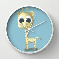 GIRAFFE Wall Clock by Ainaragm - $30.00