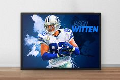 Jason Witten  Dallas Cowboys  Football poster  by TroutLifeStudio