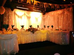 The stage is set... McGrory's - Weddings - Backroom - Donegal - Culdaff