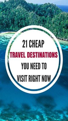 15 ridiculously cheap travel destinations for when you're broke and on a budget. Now you can tick off your bucket list while saving money. Itinerary, backpacking, travel, overseas, USA, Europe, Asia. #budgetravel #traveldestination