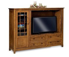 "Amish 79"" Centennial Mission Entertainment Center The Centennial is customizable and durable with lots of wood options to choose from. Offers unique storage options. #TVstand #entertainmentcenter #livingroom"