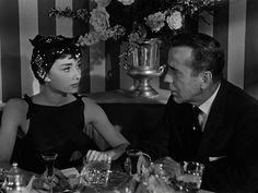 Audrey Hepburn and Humphrey Bogart in 'Sabrina' (1954).