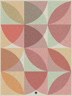 retro geometric pattern with overlays