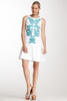 Embroidered Sleeveless Dress by Donna Morgan on @HauteLook