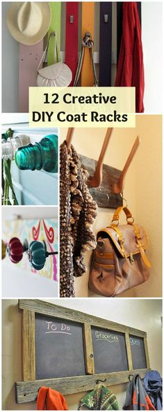 12 Creative DIY Coat Racks • A round-up of some really great coat rack projects with lots of tutorials!