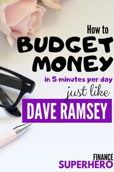 Think you can't budget because it takes too long? This Dave Ramsey budgeting method is simple and takes just 5 minutes each day once you get it set up Budgeting Worksheets, Budgeting Finances, Budgeting Tips, Monthly Expenses, Ways To Save Money, Money Tips, Money Saving Tips, Money Budget, Money Hacks