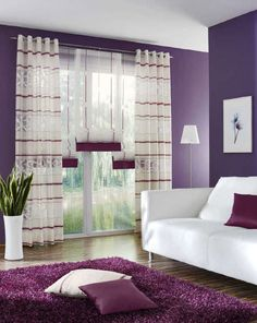 Sheer curtain fabric LAVENDEL UNLAND International