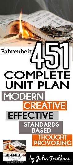 Fahrenheit 451 By Ray Bradbury Literature Guide Complete Unit Plan 4 5 Week