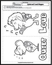 Loud/Soft Sorting {Worksheet/Center for Practice or
