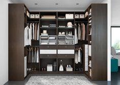 Aménager une pièce dressing en optant pour le dressing U : un rangement maximal. Dressings, Locker Storage, Bedroom, Closet, Inspiration, Furniture, Isabelle, Home Decor, Merlin