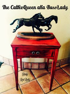Color Me Cowgirl Shabby Chic...use for an old sewing machine cabinet from the CattleQueen aka BossLady