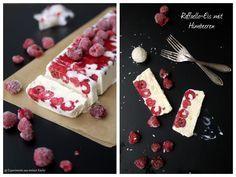 Eis, Ice, Raffaello-Eis, Raffaello-Himbeer-Eis, Dessert, Nachtisch,