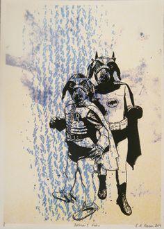 E A Hansen, Batman and Robin, 2014