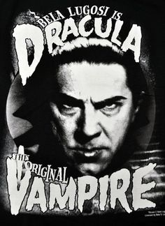 Original Vampire Dracula Bela Lugosi Mens T Shirt Universal Monsters Horror s 2X | eBay