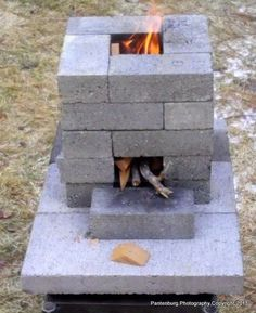 Build a brick rocket stove: Is it safe to use concrete blocks? | Survival Common Sense: tips and how-to guide for emergency preparedness and survival
