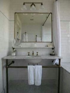 Image result for diy gold piped bathroom vanity