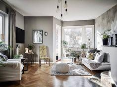 Современный интерьер апартаментов в Швеции