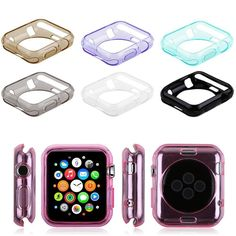 Transparent Soft TPU Protective Case Cover for Apple Watch iWatch 38mm/42mm