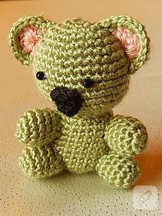 Amigurumi koala Teddy Bear, Crochet, Animals, Bears, Animales, Animaux, Teddy Bears, Ganchillo, Animal