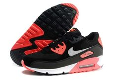 Nike Air Max 90 Knit Mens Womens Black Red