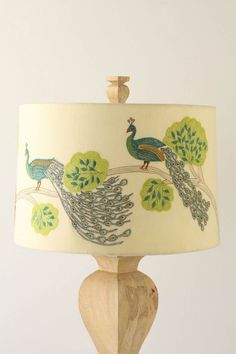 Peacock lampshade @Laura Fischer for the sister file
